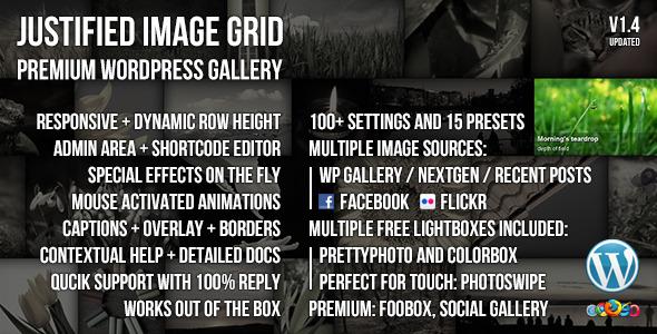Justified Image Grid - Premium WordPress Gallery