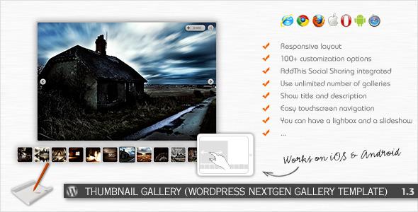 Thumbnail Gallery (WP NextGEN Gallery Template)
