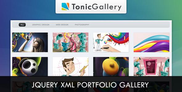 Tonic Gallery - jQuery XML Portfolio Gallery