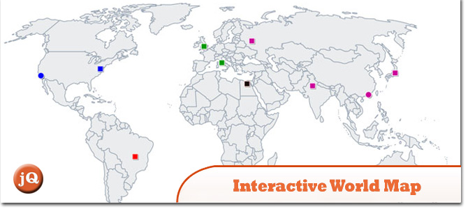 10 jQuery Global Map Plugins — SitePoint on